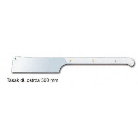 Tasak duży, ostrze 300 mm szlifowane, stal wysokowęglowa, nierdzewna. Krajowy Wyposażenie stoisk sklepowych - 4store.pl