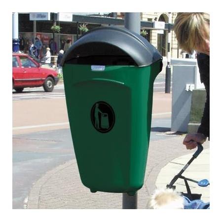 Kosz na śmieci Super Trimline 50 HSL z pokrywą, zamkiem, znakiem graficznym  i pierścieniem Import GB Kosze na śmieci - 4store.p
