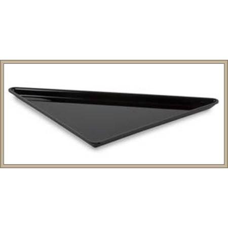 Pojemnik trójkątny z plexi 40x40x56,5 cm, ekspozycyjny, gastronomiczny, głębokość 20 mm, czarny, Dupont, Plexiline Dupont Pojemn
