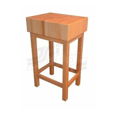 Kloc 60x60x20 cm masarski, rzeźniczy, blat i podstawa drewniane Krajowy Kloce, deski do krojenia - 4store.pl