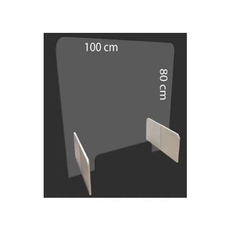 Osłona z pleksi do ochrony przed koronawirusem 100x80cm  Sprzęt i środki ochrony przed Koronawirusem - 4store.pl
