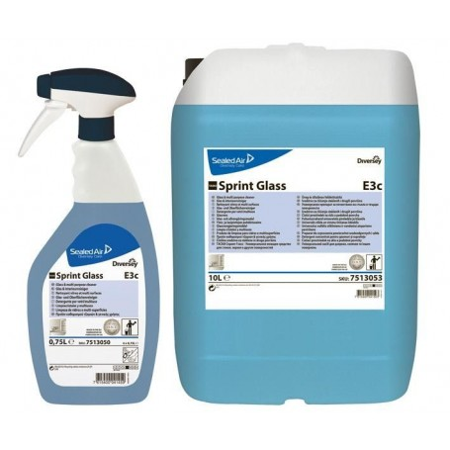 TASKI SPRINT GLASS 750 ml - profesjonalny preparat do mycia szyb, lusterek oraz innych powierzchni szklanych Krajowy Chemia, pły