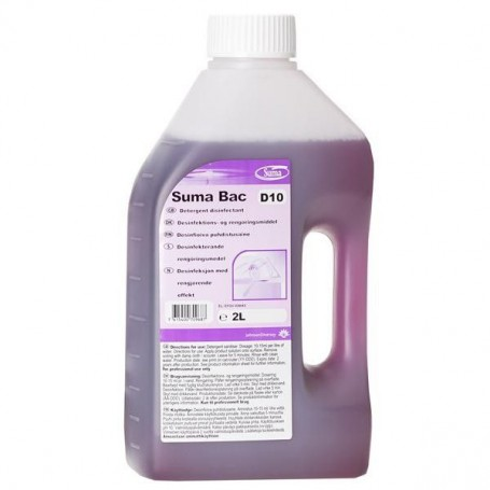 SUMA BAC D10  2 litry - preparat myjąco-dezynfekujący Krajowy Chemia, płyny, mydła - 4store.pl