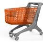 Wózek sklepowy z tworzywa Maxi Basic 210 litrów, Rabtrolley Rabtrolley Wózki z tworzywa - 4store.pl