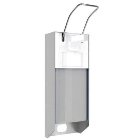 Dozownik łokciowy do mydła lub płynów dezynfekcyjnych i mydła 0,5 L, aluminium Krajowy Dozowniki mydła i papieru - 4store.pl