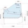 Lada chłodnicza LUZON 0.94 z agregatem wewnętrznym Igloo Lady chłodnicze z agregatem wewnętrznym - Plug-in - 4store.pl