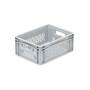 Skrzynka pojemnik basicline na owoce i warzywa 40x30x17 cm, szara, ażurowa Krajowy Skrzynki z tworzywa - 4store.pl