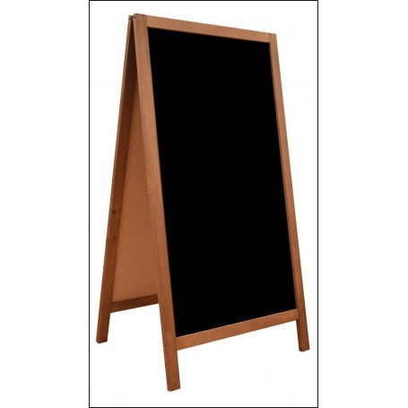 Potykacz 118 x 61 cm, tablica reklamowa, drewniany, dwustronny, szerokość ramki 4 cm Krajowy Tablice i gabloty - 4store.pl