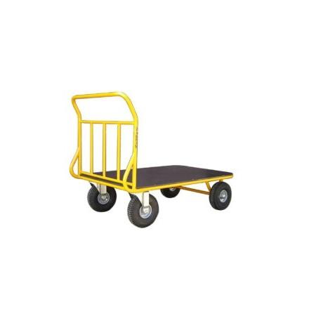 Wózek platformowy do uniwersalnych zastosowań 400 kg koła Ø260 PN WRN2-040/21 ZAKREM Wózki platformowe - 4store.pl