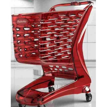 Wózek sklepowy z tworzywa, pojemność 80 litrów, Glamour Rabtrolley Rabtrolley Wózki z tworzywa - 4store.pl