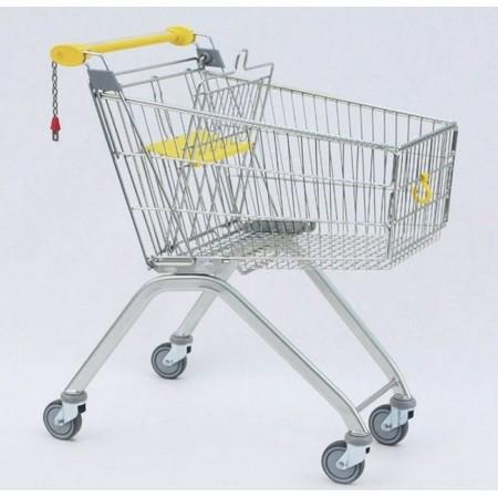 Wózek sklepowy z siedziskiem dla dziecka, Avant 90 (pojemność 85 litrów) Damix Wózki sklepowe - 4store.pl