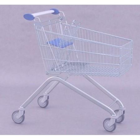 Wózek sklepowy z siedziskiem dla dziecka, Avant 106 (pojemność 101 litrów) Damix Wózki sklepowe - 4store.pl