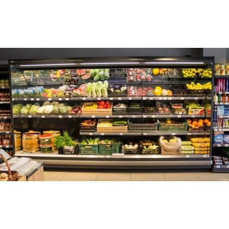 Regał chłodniczy LINDE ARM Monaxis 2,5 mb, na owoce i warzywa, używany, po kompleksowej regeneracji Krajowy Regały chłodnicze na