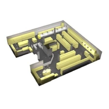Projekt, plan oświetlenia sali sprzedaży LED formula Plan oświetlenia - 4store.pl