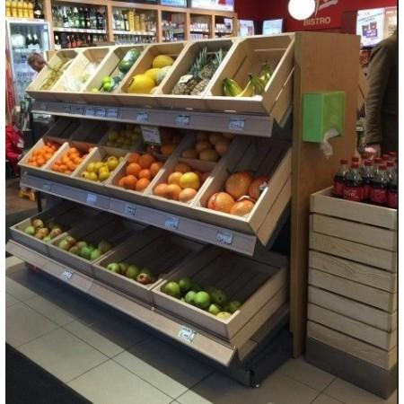 Wyspa na owoce i warzywa na bazie szerszego (150 cm) regału typu gondola VK Van Keulen Wyspy na owoce i warzywa - 4store.pl