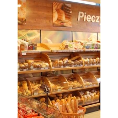 Regał sklepowy na pieczywo z górną blendą reklamową VK Van Keulen Regały na pieczywo i cukiernicze - 4store.pl
