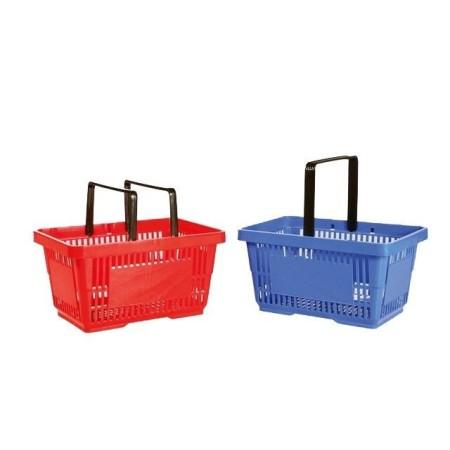 Koszyk sklepowy 22 litry, z logo lub bez logo, różne kolory Kon-Plast Koszyki ręczne i na kółkach - 4store.pl