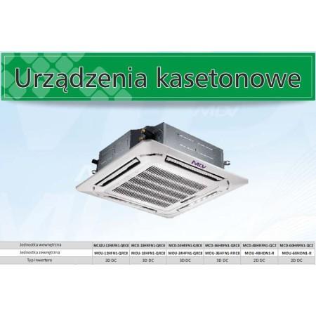 Klimatyzacja dla sklepu 50-70 mkw, klimatyzator kasetonowy 10,5 kW MDV, mcd-36hrfn1, inwerter, z agregatem MDV (Midea) Klimatyza