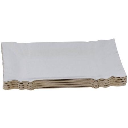 Tacka tekturowa 14 x 25 cm, jednorazowa, opakowanie 100 szt. Krajowy Papier, tacki, torby - 4store.pl