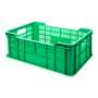 Skrzynka na owoce i warzywa 60x40 cm, wys 22 cm, atest do kontaktu z żywnością, zielona Krajowy Skrzynki z tworzywa - 4store.pl