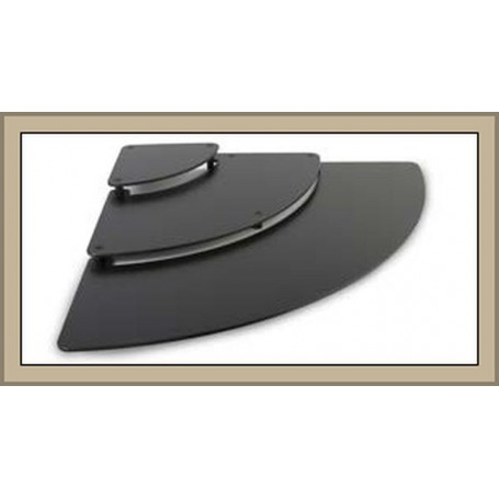 Kaskada ekspozycyjna (schodki), ćwiartka koła 80 x 80 x 8,1 cm czarna, pasuje do Amfiteatr, Dupont (Plexiline) oraz Dalebrook Kr
