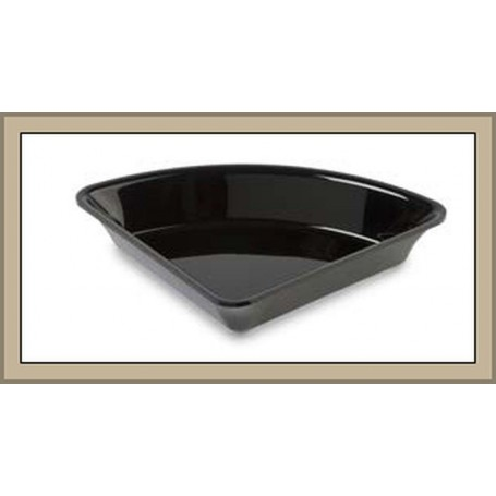 Pojemnik  90°, 26,5x26,5 cm, ćwiartka koła, czarny, z plexi , Amfiteatr 1, Dupont, Plexiline Dupont Pojemniki z plexi - 4store.p
