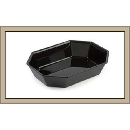 Pojemnik ośmiokątny, 26,5x20x5 cm, czarna plexi, Dupont Dupont Pojemniki z plexi - 4store.pl