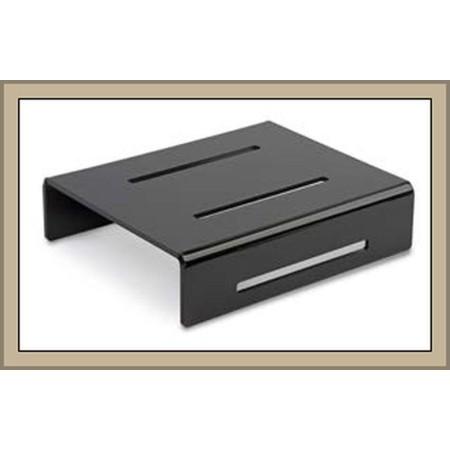 Kaskada (schodek, stopień) 1-poziomowa, 260x220x65 do prezentacji w ladzie , czarna plexi Krajowy Kaskady (schodki) - 4store.pl