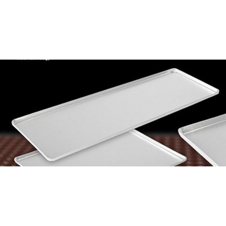 Taca cukiernicza, srebrna, 60x20cm, 4 ranty (1 lub 2 cm), aluminiowa, tłoczona, na ciasto do witryny cukierniczej Kra01 Tace na