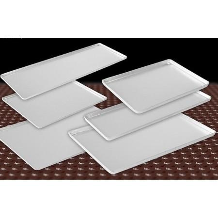 Taca cukiernicza, srebrna, 48x32cm, 4 ranty (1 lub 2 cm), aluminiowa, tłoczona, na ciasto do witryny cukierniczej Kra01 Tace na