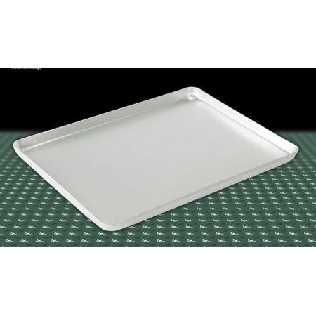 Taca cukiernicza, srebrna, 40x30cm, 4 ranty (1 lub 2 cm), aluminiowa, tłoczona, na ciasto do witryny cukierniczej Kra01 Tace na