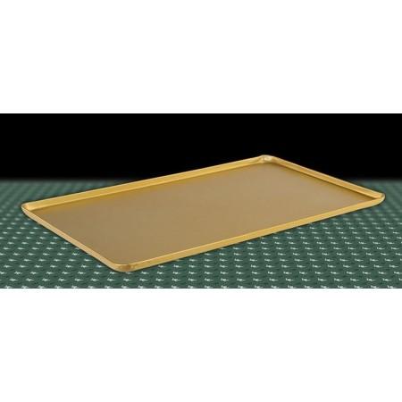 Taca na ciasta 60x20cm, 4 ranty (1 lub 2 cm), kolor złoty lub szampana, tłoczona, aluminiowa, cukiernicza. Kra01 Tace na ciasta
