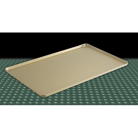 Taca na ciasta 40x25cm, 4 ranty (1 lub 2 cm), kolor złoty lub szampana, tłoczona, aluminiowa, cukiernicza. Kra01 Tace na ciasta