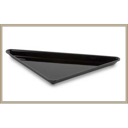 Pojemnik trójkątny 27x27x36 cm, ekspozycyjny, gastronomiczny, głębokość 17 mm, kolor czarny/biały/bordowy, Dupont, Plexiline Dup