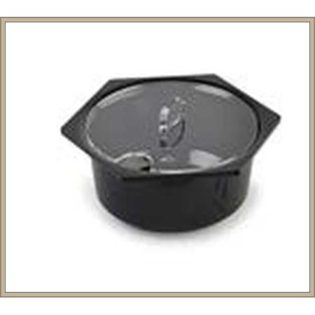 Pokrywka na pojemniki na sałatki 1,5L, okrągła-Hexa - 175 mm,  Dupont Dupont Pojemniki z plexi - 4store.pl
