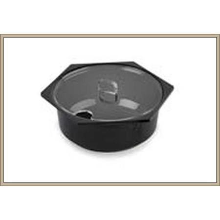 Pokrywka na pojemniki na sałatki 2,5L, okrągły-Hexa - 215 mm,  Dupont Dupont Pojemniki z plexi - 4store.pl