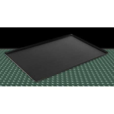 Taca na ciasta, czarna, 40 x 25 cm, 4 ranty (1 lub 2 cm), kolor czarny, tłoczona, aluminiowa, cukiernicza. Kra01 Tace na ciasta