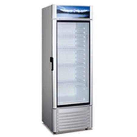 Szafa chłodnicza XLS 380 BW, 380 litrów, przeszklone drzwi, rozszranianie automatyczne, fabrycznie nowa, R134a Import Szafy chło
