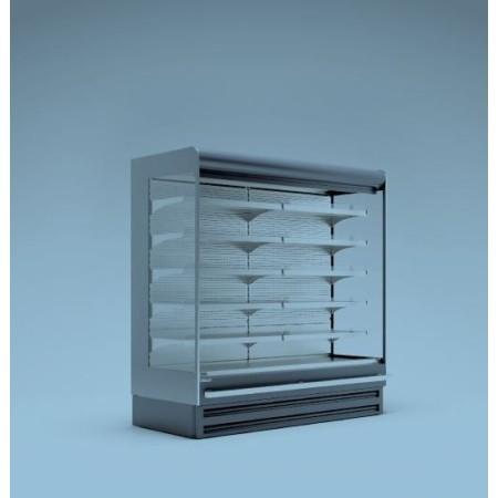 Regał, szafa chłodnicza RCS Scorpion 04 1,25 z agregatem wbudowanym, bez drzwi ES System K Regały chłodnicze z agregatem wewnętr