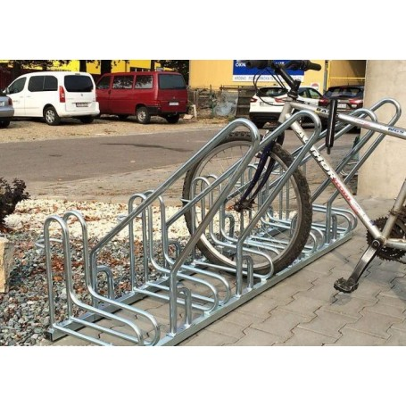 Stojak na rowery RAD-6 z barierką Krajowy Stojaki na rowery - 4store.pl