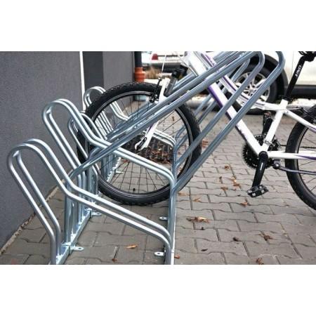 Stojak na rowery CROSS SAVE-6 z barierką Krajowy Stojaki na rowery - 4store.pl