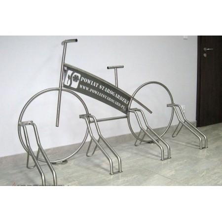 Stojak na rowery ROWER nierdzewny +laser Krajowy Stojaki na rowery - 4store.pl