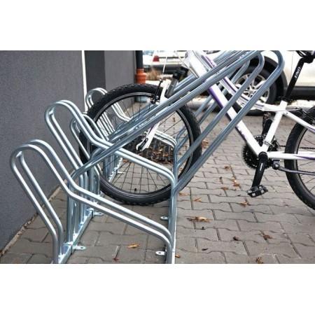 Stojak na rowery CROSS SAVE-4 z barierką Krajowy Stojaki na rowery - 4store.pl