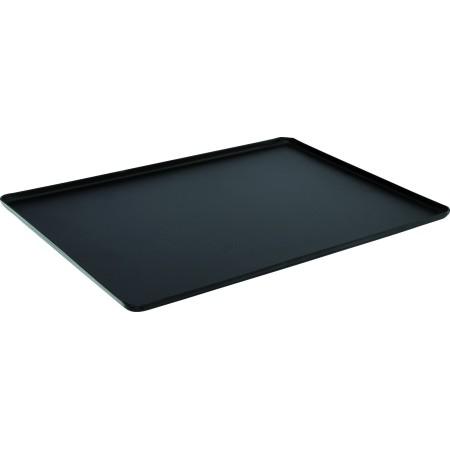 Taca 48x32cm, na ciasta, 4 ranty (1 lub 2 cm), kolor czarny, anodowana, tłoczona, aluminiowa, cukiernicza. Kra01 Tace na ciasta