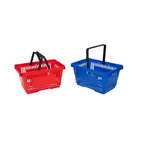 Koszyk plastikowy 28L, różne kolory, możliwość piętrowania Damix Koszyki ręczne i na kółkach - 4store.pl