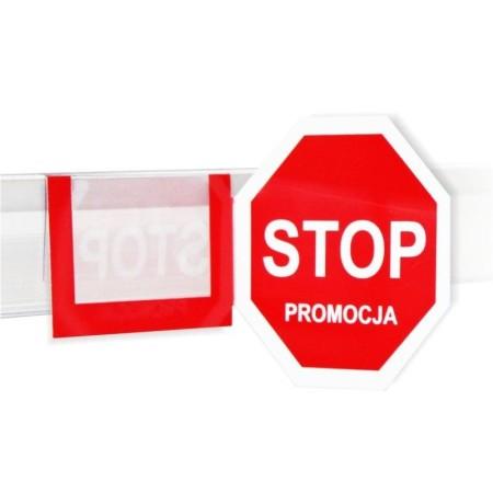 Stopery (zatrzymywacze) reklamowe, regałowe , ośmiokątne  STOP PROMOCJA Krajowy Cenówki, stopery - 4store.pl