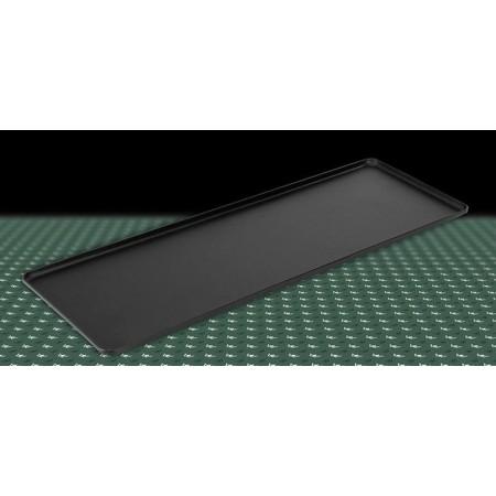 Taca 60x20cm, na ciasta, 4 ranty (1 lub 2 cm), kolor czarny, anodowana, tłoczona, aluminiowa, cukiernicza. Kra01 Tace na ciasta